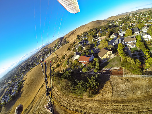 2014.09.18 Paragliding adventure from Joel's backyard.  Call 707-You-Soar