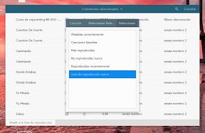 Aplicaciones para trabajar en Ubuntu GNOME y también para disfrutar. Música. Listas.