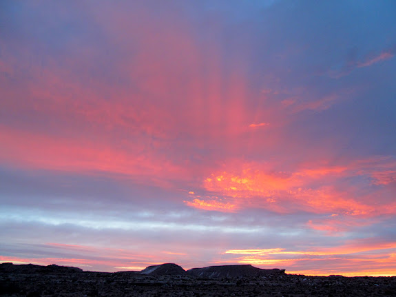 Colorful sunrise along UT-24