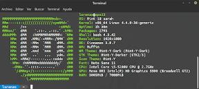 Información sobre el sistema operativo Linux con Screenfetch. Mi equipo.