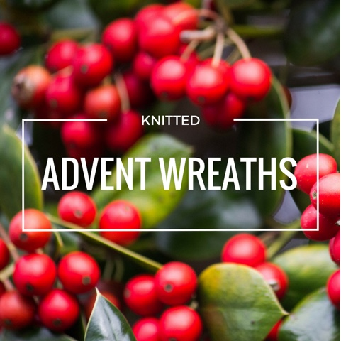 Knitted Advent wreaths