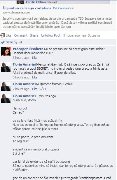 TSD Suceava scandal înjurături facebook