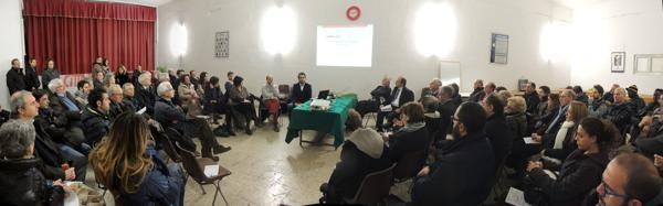 sala riunione, San Pietro e Paolo, piano rifiuti, presentazione