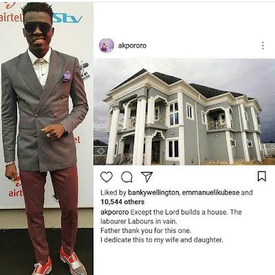 Akpororo Unveils His Mansion.