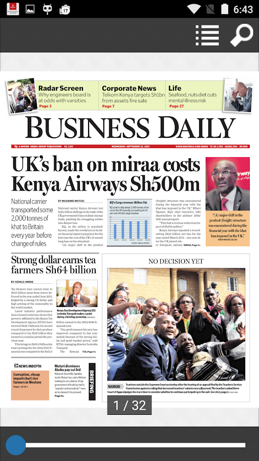 Business Daily epaper App- screenshot