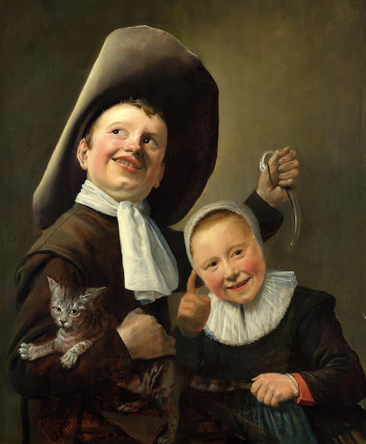 Judith Leyster - A Boy and a Girl with a Cat and an Eel