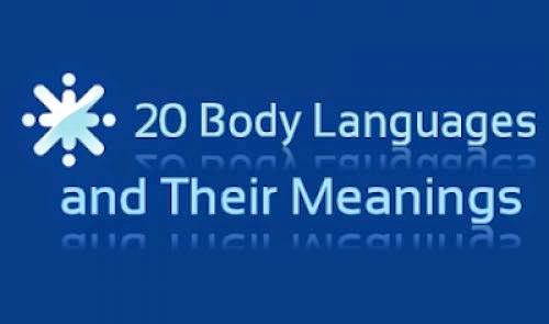 20 Body Languages And Their Meanings