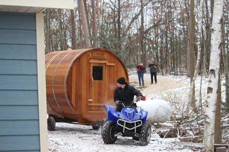 Sauna delivery 3