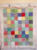 Front view of the completed quilting