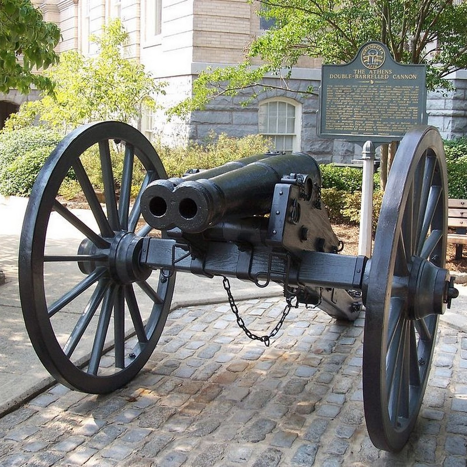 The Double-Barreled Cannon of Athens