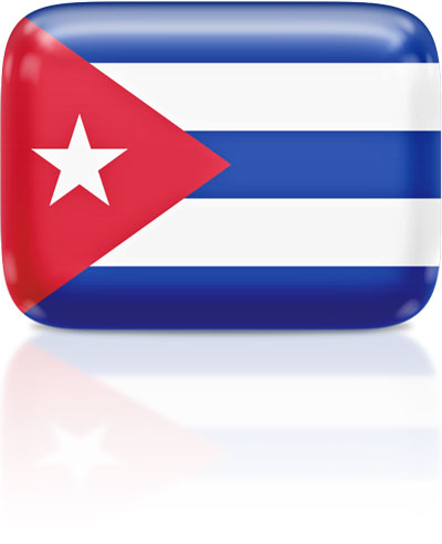 Cuban flag clipart rectangular