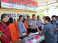 Pengungkapan Kasus Pembunuhan dan Pencurian dengan Kekerasan dengan 5 orang tersangka di Desa Maguan Kecamatan Kaliori Kabupaten Rembang