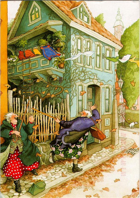 Сверкающие снежинки, старые сумасшедшие открытки