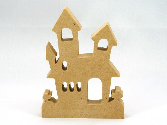 Handmade Halloween Haunted House Cutout
