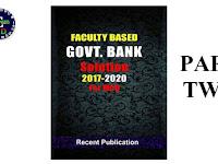 Faculty Based Govt Bank Solution 2017-2020 Part 2 PDF ফাইল