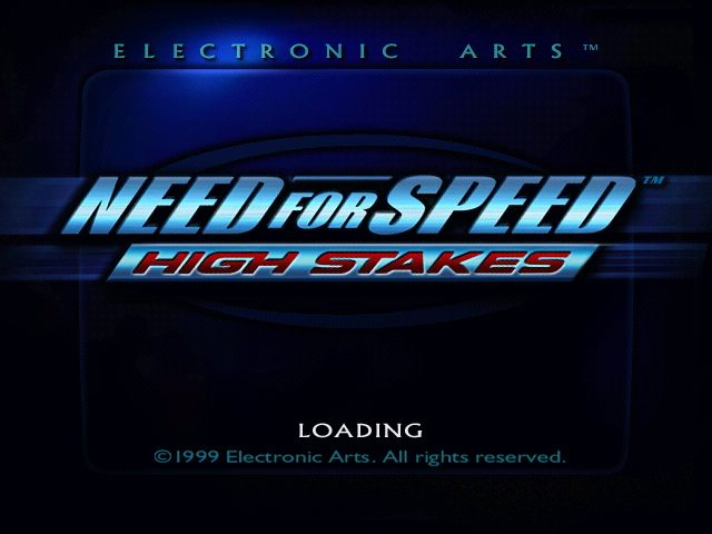 The Need For Speed High Stakes Title Screen