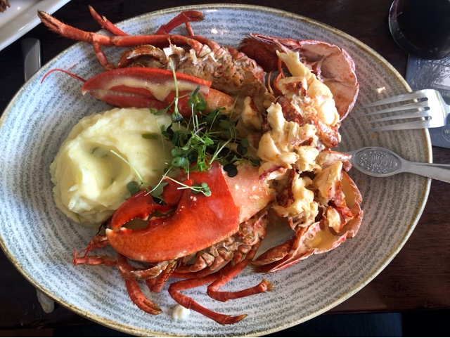 Lobster and mash