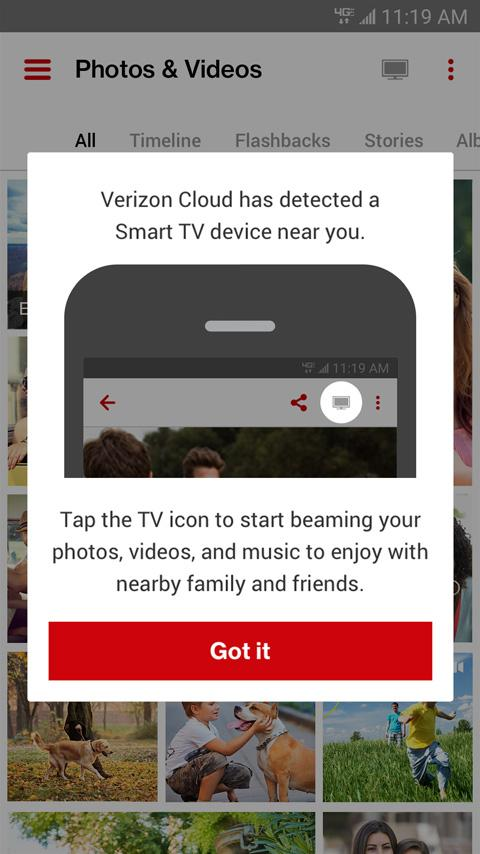 Verizon Cloud- screenshot