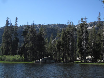 This is where P decided to go fishing...right by that rock. ©http://backpackthesierra.com