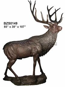 Bronze, Elk, Large, Statue