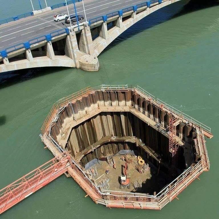 construção de pilares de pontes2