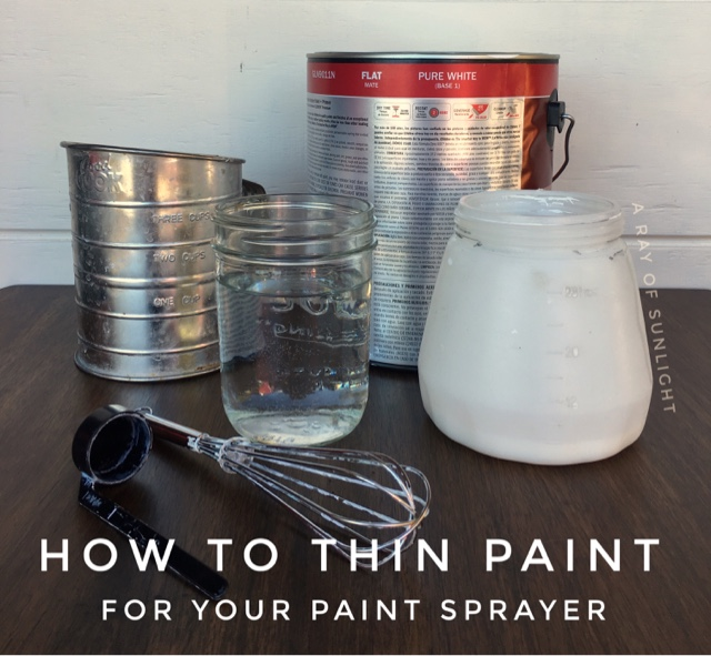 How to paint old thrifted or worn out furniture with a paint sprayer. Easily and quickly refinish your dresser, tables, buffet, and chairs by spray painting with chalk paint, latex or even oil based paints. Learn how to thin your paint to be able to use almost any paint in your wagner paint sprayer.