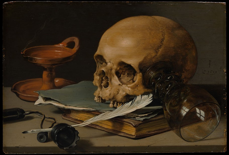 Pieter Claesz - Still Life with a Skull and a Writing Quill