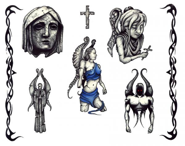 Silent Tattoo Design 12, Fantasy Tattoo Designs