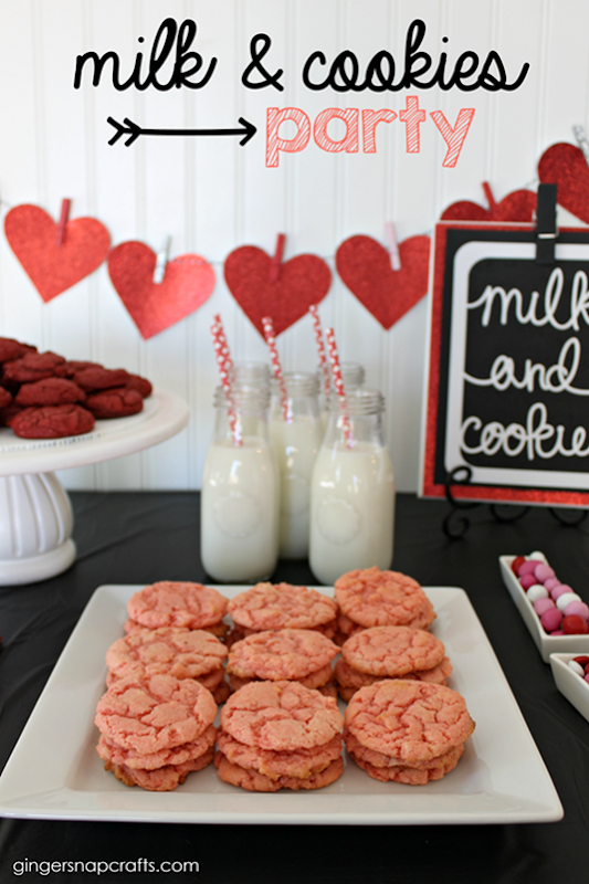 milk & cookies party at GingerSnapCrafts.com #targetonespot #targetvalentine_thumb