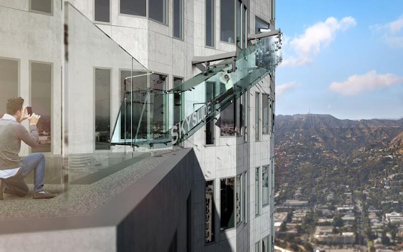 Skyslider, o tobogã nas alturas de Los Angeles