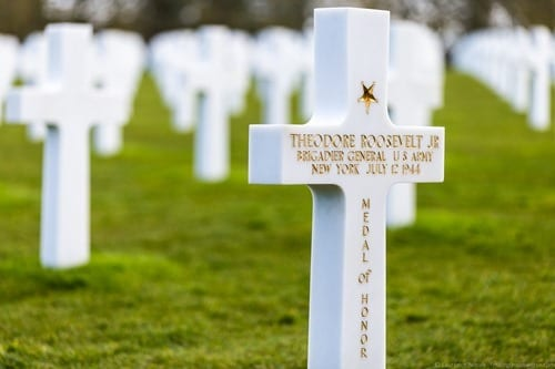 American War Cemetery Normandy Theodore Roosevelt