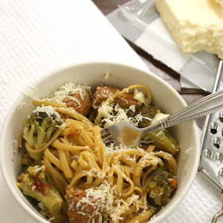 One Pan Pasta With Broccoli and Sausage.