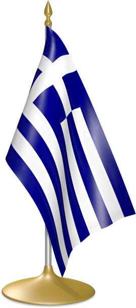 Greek table flags - desk flags