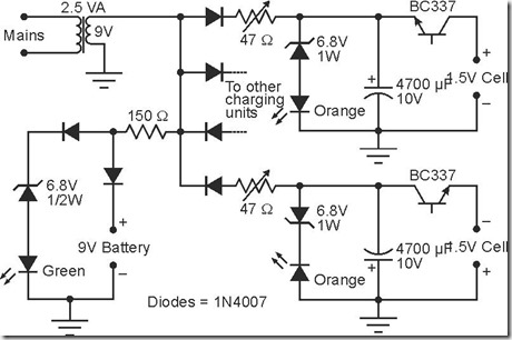 simple alkaline battery charger schematic circuit simple schematic rh simple schematic blogspot com Alkaline Battery Tester alkaline battery chemical formula