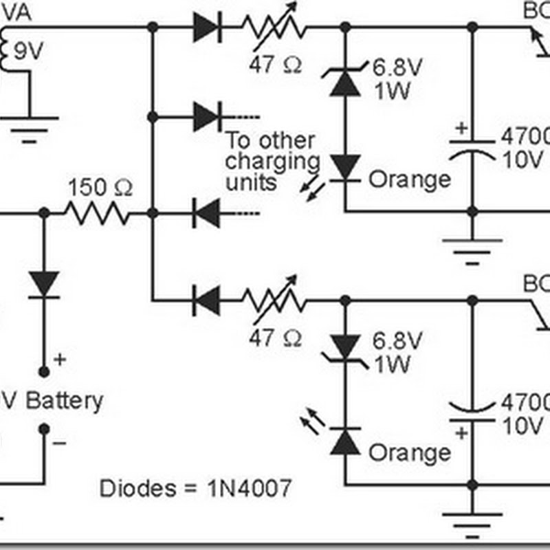 Simple Alkaline Battery Charger Schematic Circuit Simple