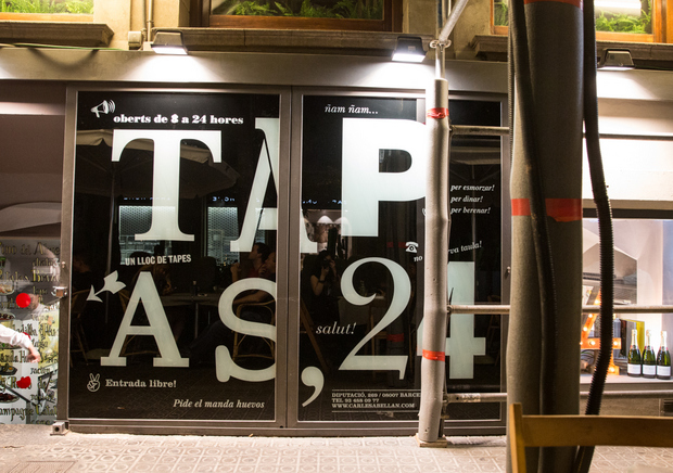 photo of the Tapas 24 sign