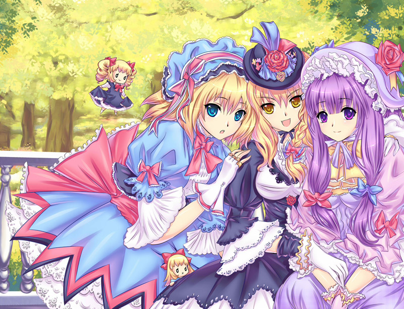 alice margatroid kirisame marisa patchouli knowledge riyun touhou