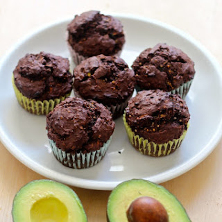 Chocolate & Avocado Protein Muffins