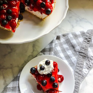 Cherry Berry No-Bake Cheesecake Recipe