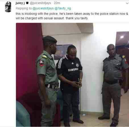 PHOTOS: Taxify Driver Who Squeezed Passengers Nipples Arrested