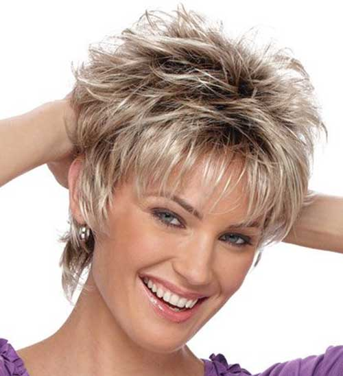 Messy Layered Short Hair Style Picture Fashion Qe