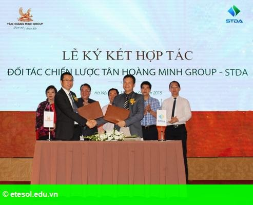 Hình 1: STDA trở thành đối tác chiến lược của Tân Hoàng Minh Group