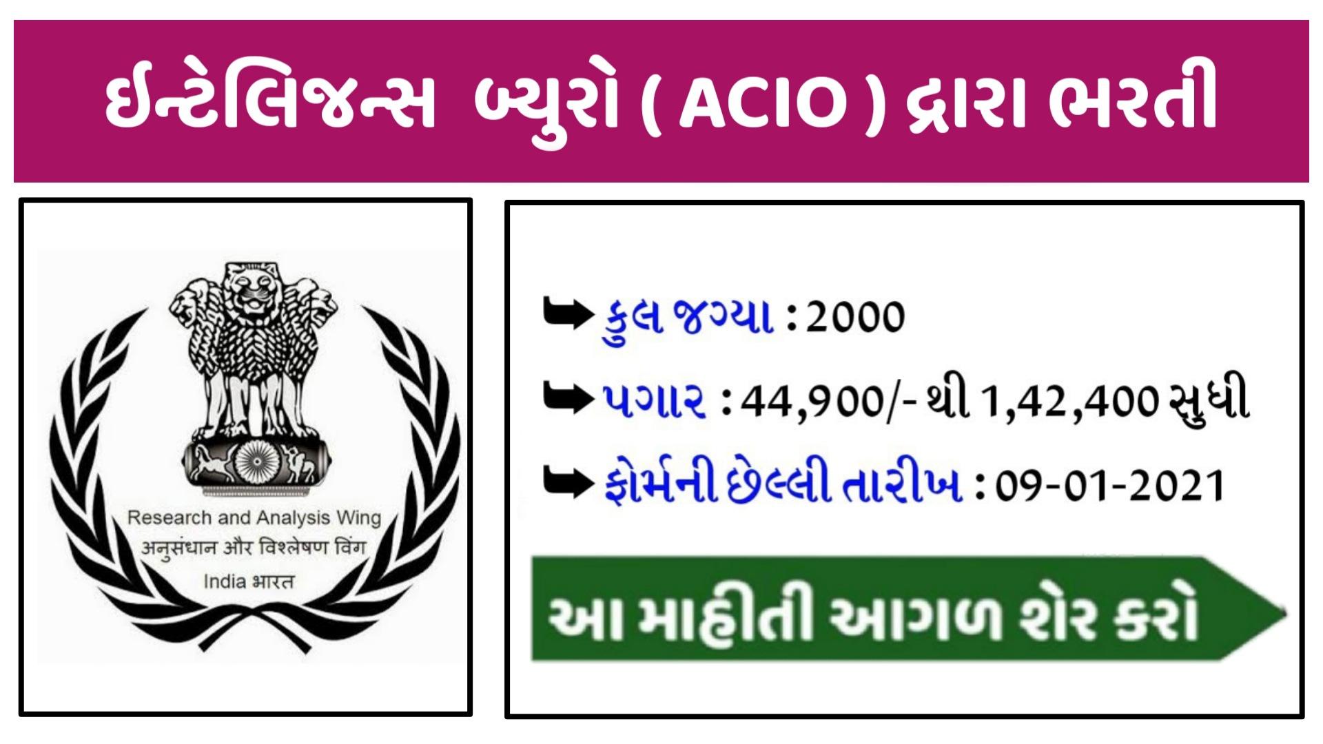 Ib Acio Application Form 2020-21 Apply Online
