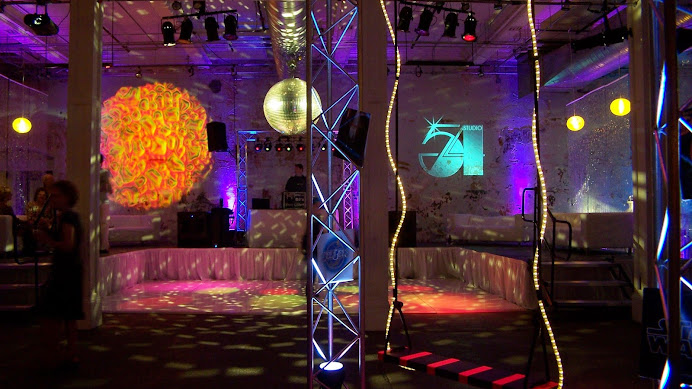 Ambient media event lighting design google