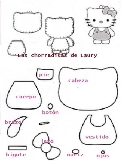 Moldes de kitty en tela - Imagui