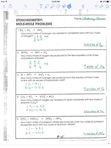 Worksheet Mole Mole Problems Chemistry A Study Of Matter