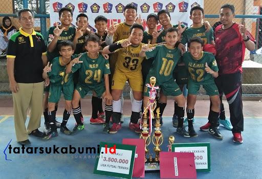 Liga Futsal Teknika 2019 Sukabumi, 16 Sekolah Bertarung SMPN 1 Cibadak Juara