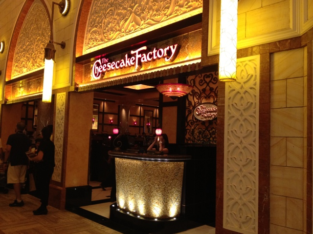 Entrance at the backside of the Cheese Cake Factory Dubai Mall