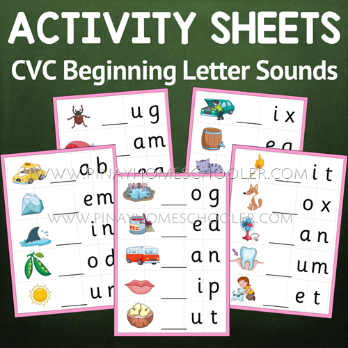 Beginning Letter Sound Activity Sheets (Montessori Pink Series)