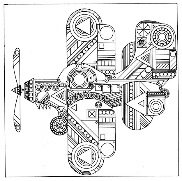 Airplane Coloring Pages For Adults  Airplane Coloring Pages For Adults Abstract  Coloring Pages Plane